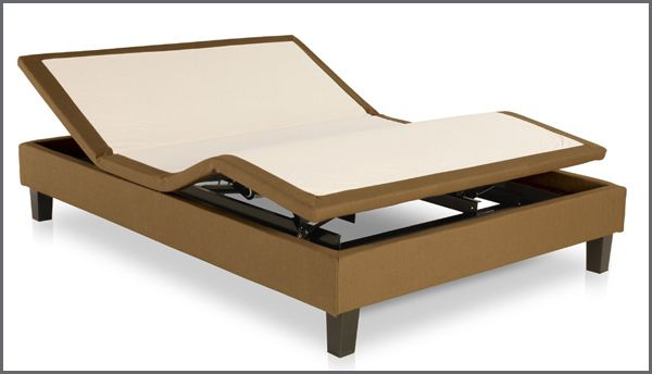 Put your feet up in this Leggett & Platt D222 contemporary adjustable bed with wrapped upholstery, designer wood legs, and dual 3-speed massage! Free Delivery!