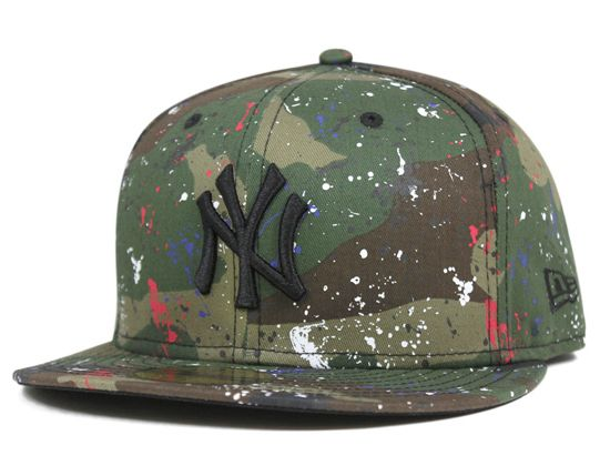 53d70f820c912 New York Yankees Splash Print Woodland Camo 59Fifty Fitted Baseball Cap by  NEW ERA x MLB We ve seen this Jackson Pollock rendition befo…