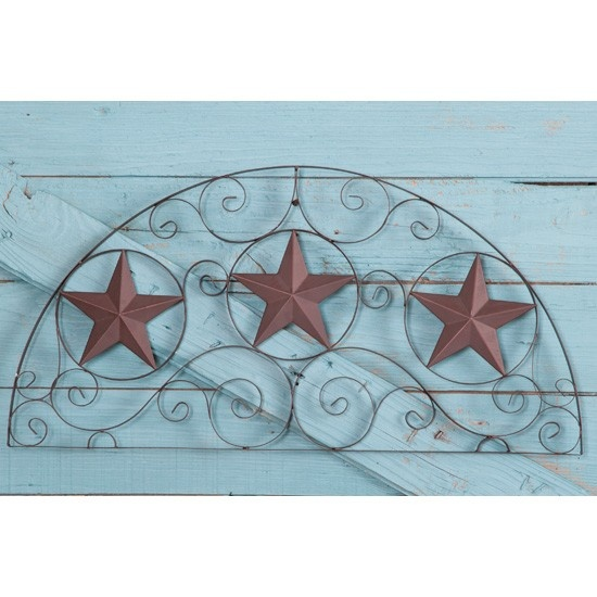 Semicircle Metal Star Wall Art Cute As A Headboard Texas Decortexas Kitchenmetal Starswestern