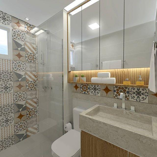 +1000 ideias sobre Porcelanato Banheiro no Pinterest  Acabamento Para Banhei -> Banheiros Decorados Ceramica Portinari