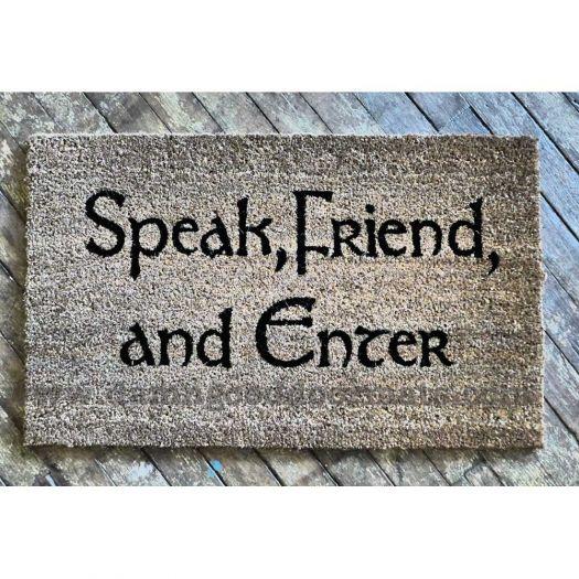 Lord of the Rings, Tolkien  -Speak Friend and Enter- Hobbit Novelty doormat
