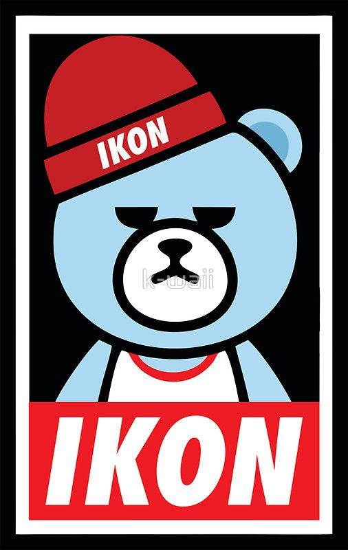 "IKON YG Bear Dope"" Stickers by k-waii | Redbubble"