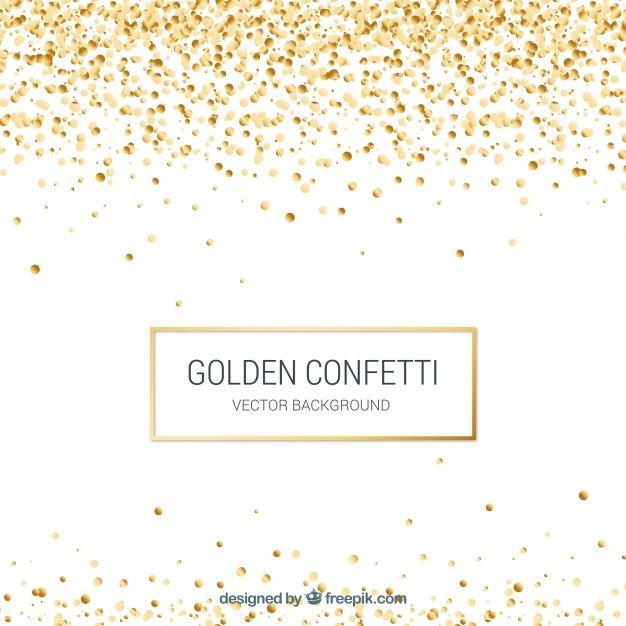 Golden Confetti Background In Realistic Style Confetti Background Sparkles Background Bright Background