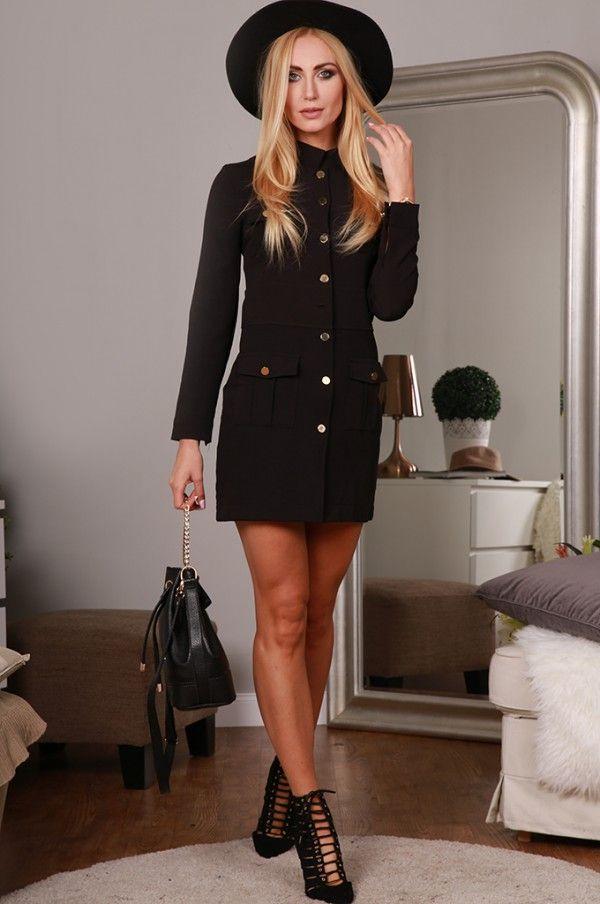 Sukienka czarna 9823