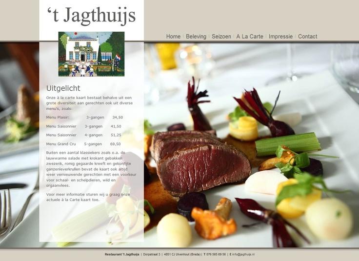 Website van restaurant 't Jagthuijs in Ulvenhout #Joomla #Webdesign