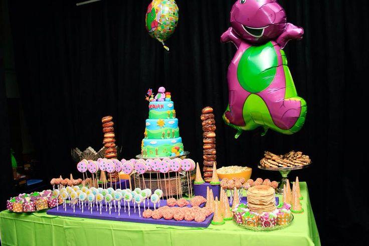 Barney candy buffet