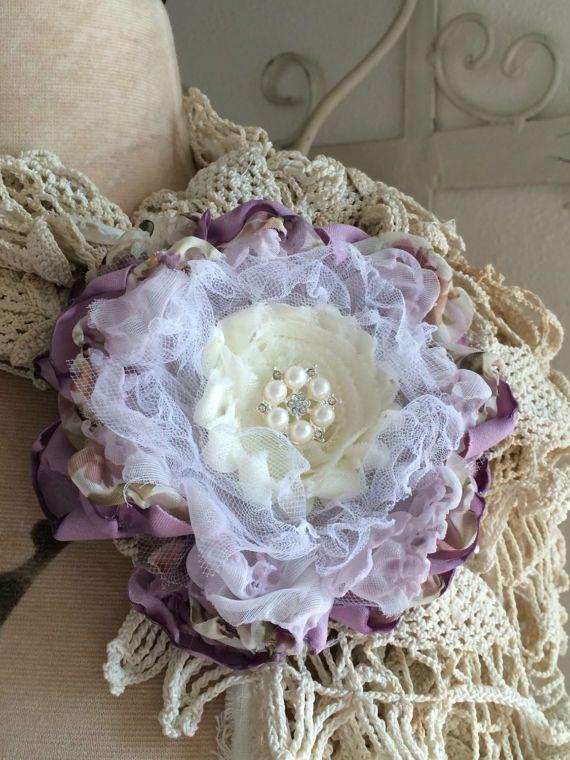 Fabric Flower Brooch/Hair Accessory Bridal Corsage