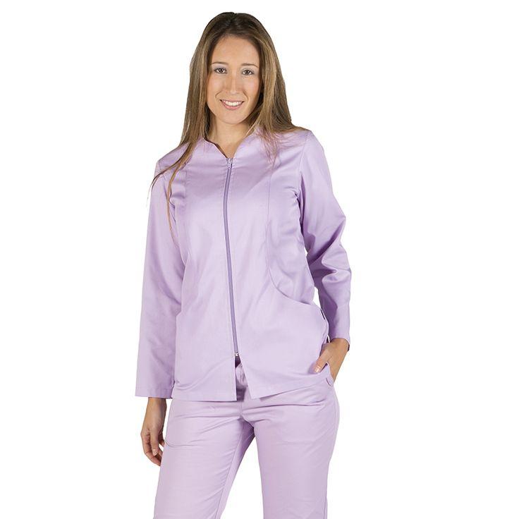 6236 blusa mujer con cremallera y manga larga en color lila