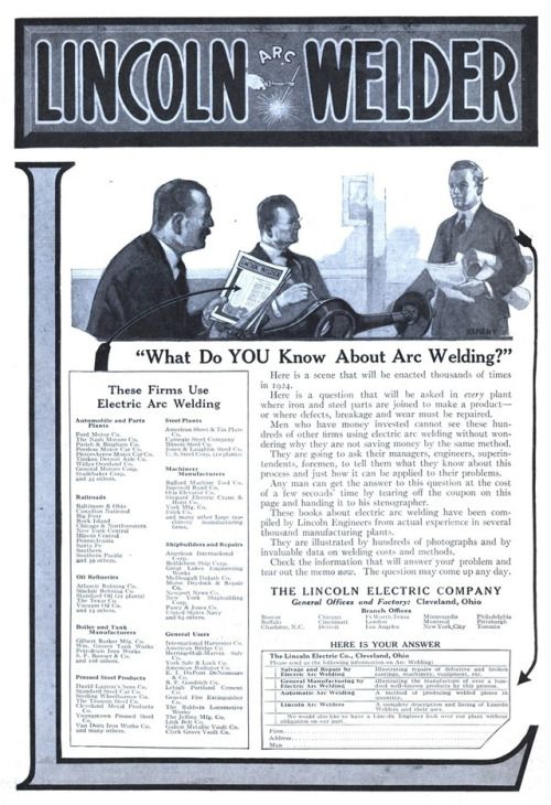 15 pin για lincoln welders που πρέπει οπωσδήποτε να δείτε lincoln welder 19231222 literary digest