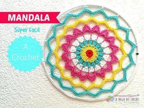 Cómo tejer una mandala al crochet / 2 Tutoriales | Crochet y Dos agujas