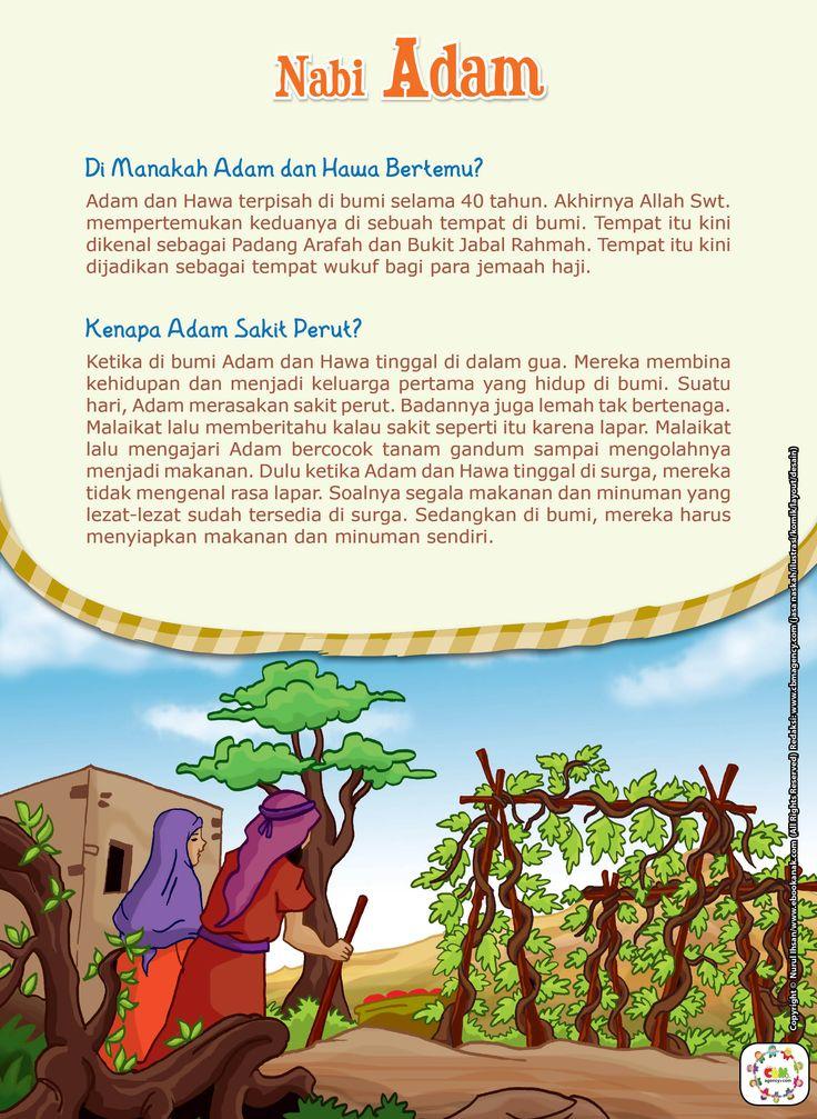 DI MANAKAH ADAM DAN HAWA BERTEMU?Adam dan Hawa terpisah di bumi selama 40 tahun. Akhirnya Allah Swt. mempertemukan keduanya di sebuah tempat di bumi. Tempat itu kini dikenal sebagai Padang Arafah dan Bukit Jabal Rahmah. Tempat itu kini dijadikan sebagai tempat wukuf bagi para jemaah haji. KENAPA ADAM SAKIT PERUT?Ketika di bumi Adam dan Hawa …