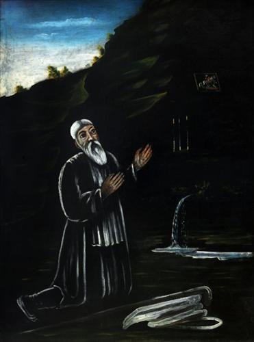 Святой Георгий Анахорет - Нико Пиросмани