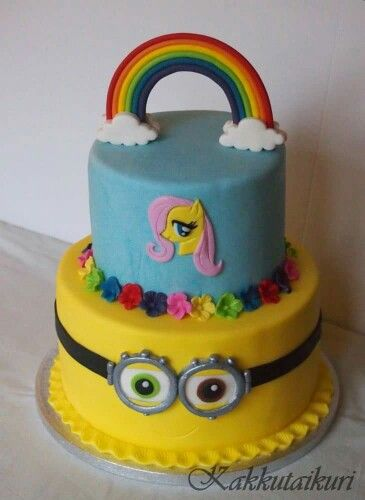 My little pony and minion cake