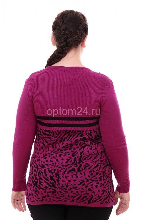 Кофта-туника ярко-фиолетовая СК 2451 Размеры: 48 Цена: 400 руб.  http://optom24.ru/kofta-tunika-yarko-fioletovaya-sk-2451/  #одежда #женщинам #кофты #оптом24