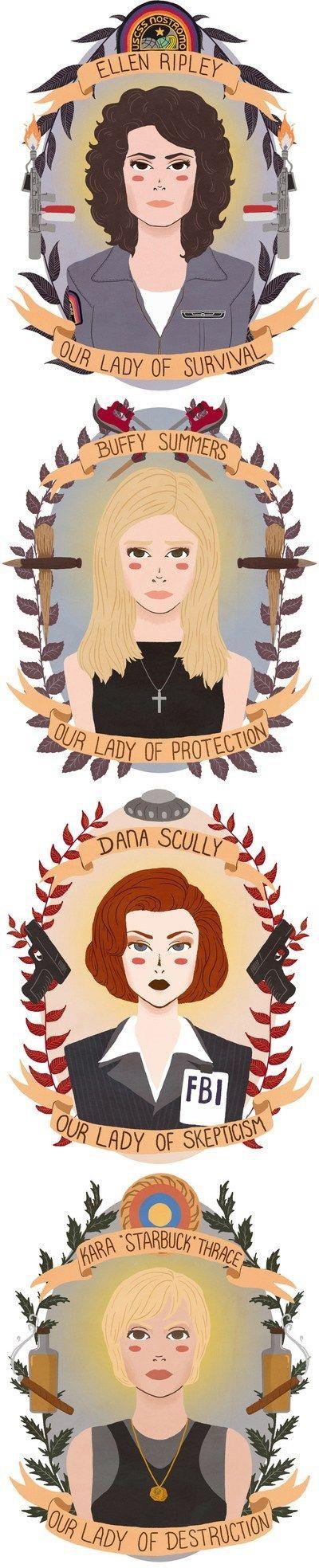 Patron Saints of Sci-Fi Heroines
