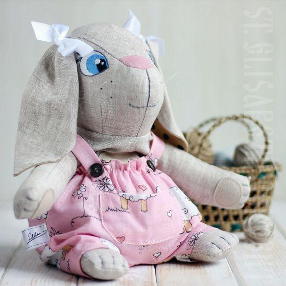 Hare Eco Toy  $19.00 #CatalogOfGoodDeeds #CatalogOfStElisabethConvent #handmade #eco #toys #kids #souvenir #present #goodparents #bedwarmers #bedwarmers #interiordecorations