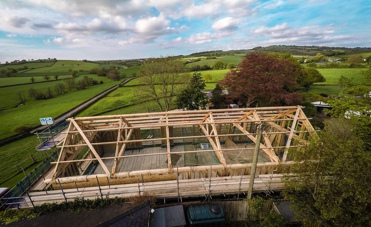 More roofwork - Stockleigh Pomeroy Village Hall roof structure