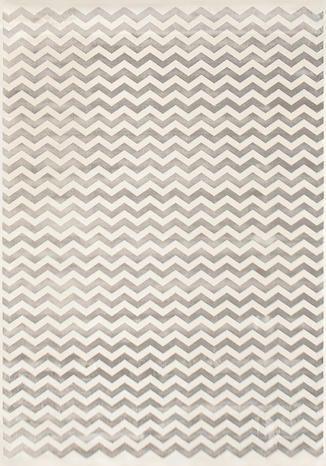 [M/95×140cm]ELLYNA_ギザギザボーダーラグマット(ベージュ):ミッドセンチュリー,ポップ,ベージュ・アイボリー系,Home's Style(ホームズスタイル)のラグ・マットの画像