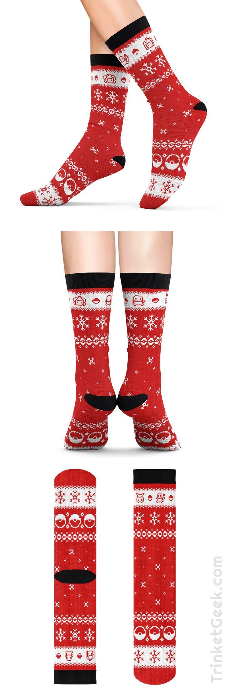 Pokemon themed Christmas Sweater socks!  #pokemon #christmas #sweater #socks #stocking #stuffer