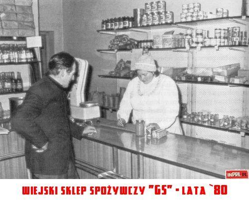 """wiejski sklep spożywczy """"GS"""" - lata `80"""