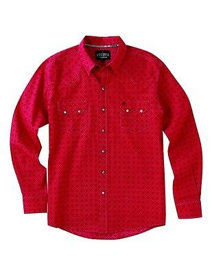 Cinch Western Shirt Mens Garth Brooks Sevens Pockets L Red HTW4006002