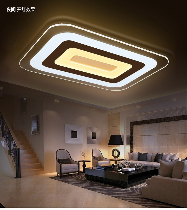 Ultra-thin <b>acrylic modern led</b> ceiling lights for living room bedroom ...