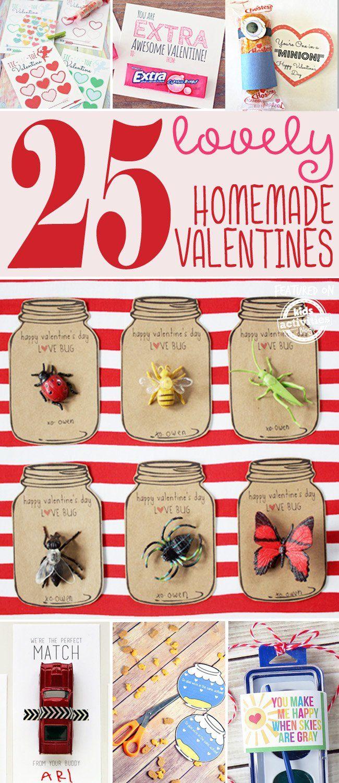 25 {Lovely} Homemade Valentines