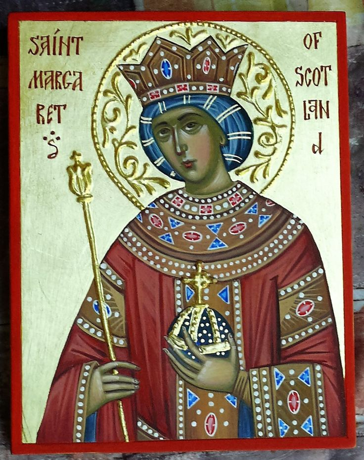 St Margaret of Scotland icon hand painted by Georgi Chimev