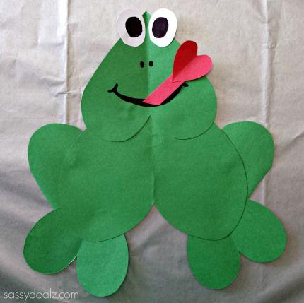 Paper heart frog craft for kids - Sassydeals com ...
