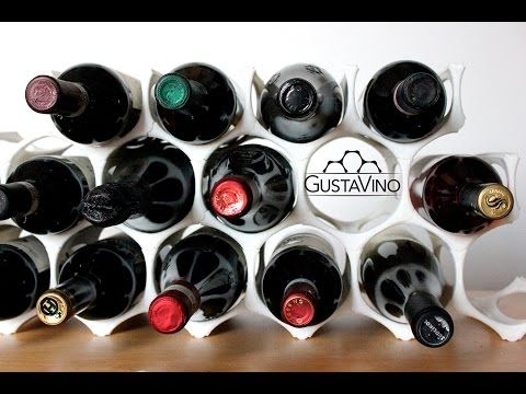 GustaVino - the first 3D printed modular wine holder by GustaVino,