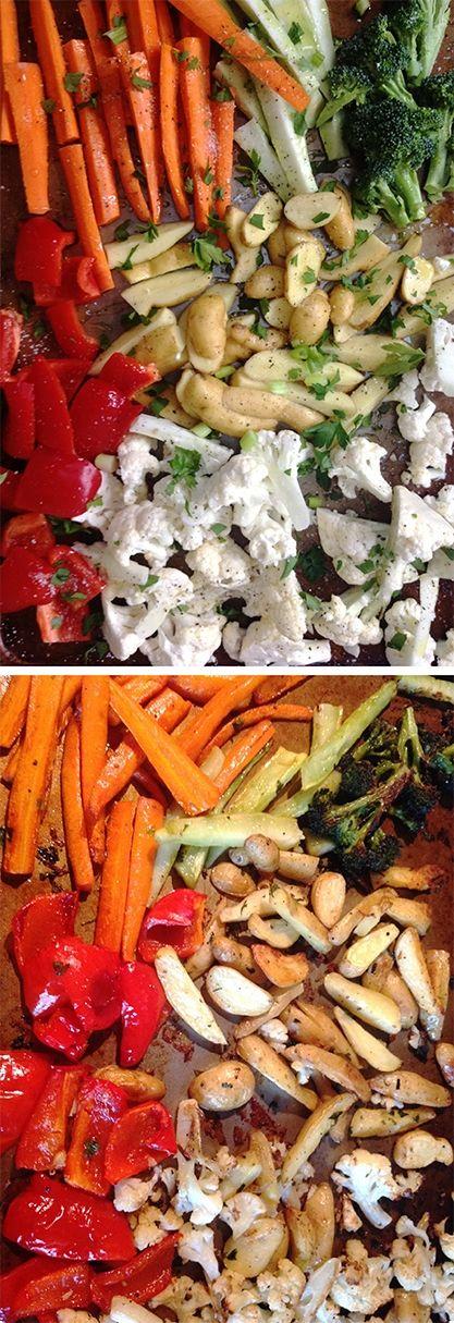 Dietní příloha - samá zelenina - vše z jednoho pekáčku - DIETA.CZ