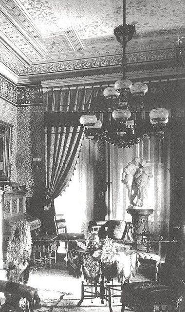 "houseofsteen: "" 1800s parlor via https://www.flickr.com/photos/antiquelighting/ """