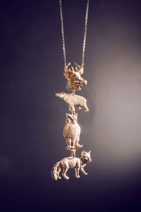 Spirit Animal Totem Necklace by ChristineDomanic on Etsy Wow I love this! Wonder if she does requests...