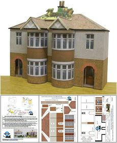 All of these paper models  are inspired by real buildings located in England.  They are in  HO scale (1/87 scale)  and are perfect for Rai...