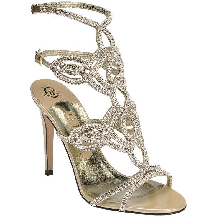 Gina Shoes...Elvira -A stunning delicate soft gold metallic ...