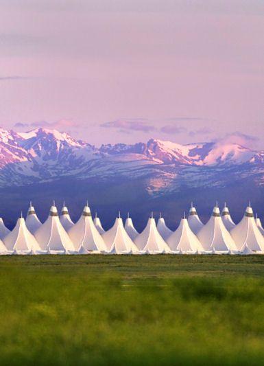 Curtis Fentress' design for the Denver Airport
