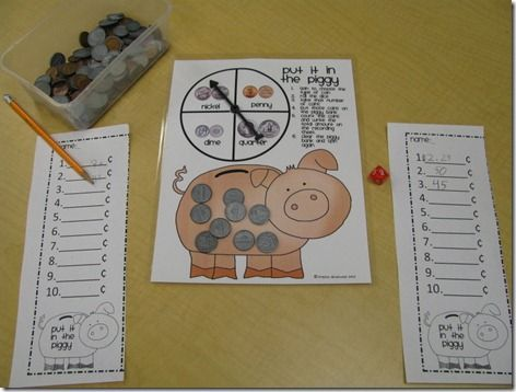 """Put it in the Piggy"" a counting coins game"