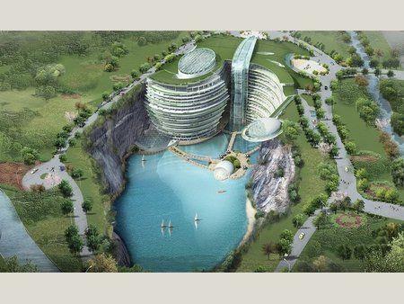 Future Underground Hotel being built!  AMAZING!