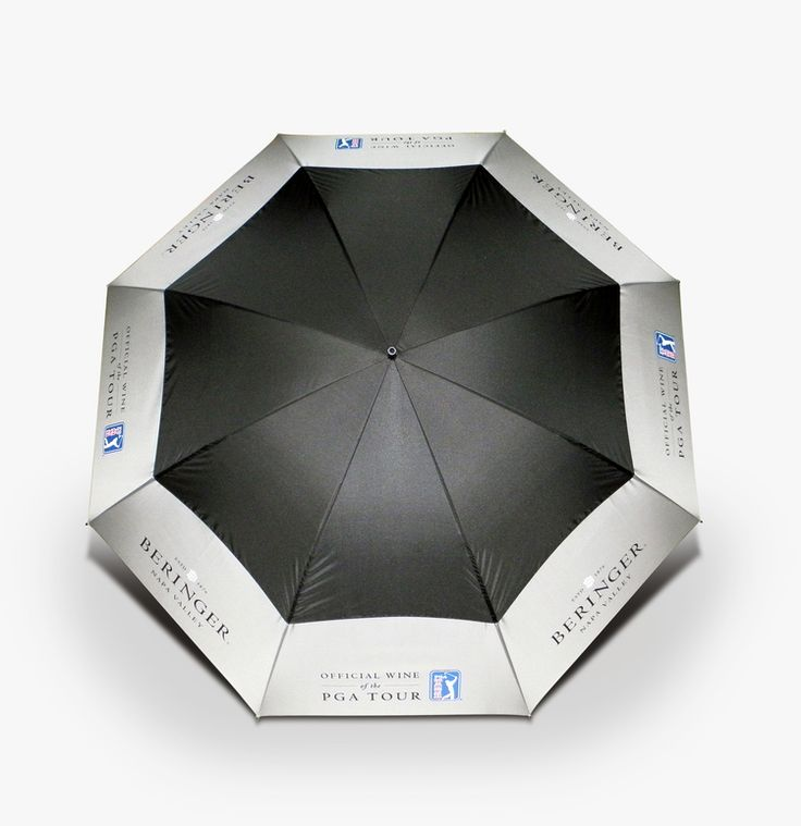 This Beringer PGA Umbrella is just the right GWP for showing you care made by Merch&Effect for Treasury Wine Estates.