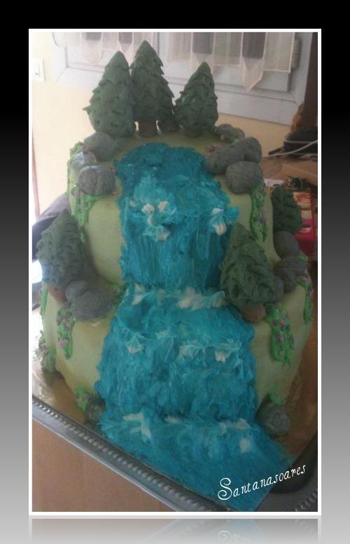 Waterfall Cake Waterfall Cake Cake Homemade Cakes