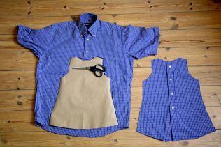 Upcycling kinderkleid aus hemd
