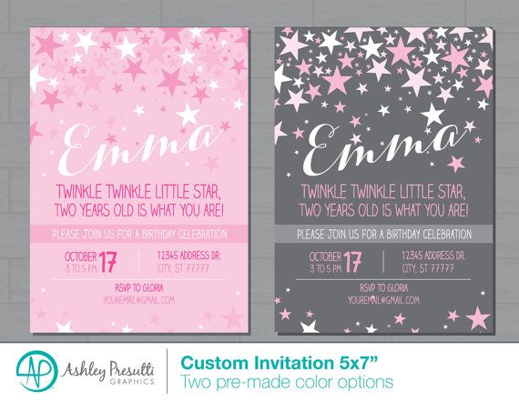 17 best Birthday Party Themes for my Girls images – 2 Year Old Birthday Invites