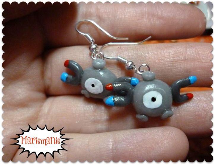 Magnemite earrings
