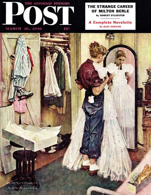 "Norman Rockwell, ""Prom Dress"" (1949)"