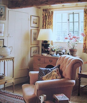 Don't you want to curl up with a book here. Can't you just hear the rain drumming gently on the roof.