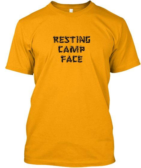 1ca8957f200e Resting Camp Face Camping Shirt Gold T-Shirt  19.00