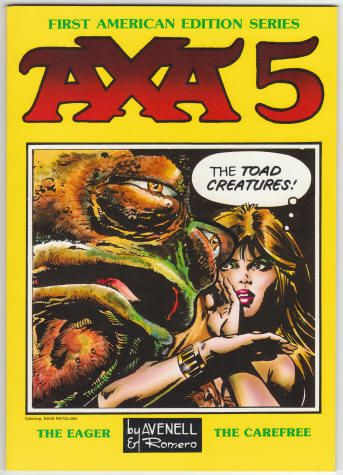 Axa Book 5 by Donne Avenell and Enrique Romero. Softback, First American Edition Series, size 7 x 10 inches, 64 pages, Out of Print. Set of Volumes 1 - 8 for $175