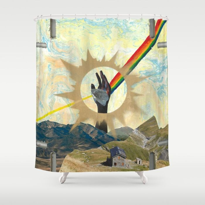 Cecilia Zabala's Art For Sale! Reaching to Enlightenment Shower Curtain