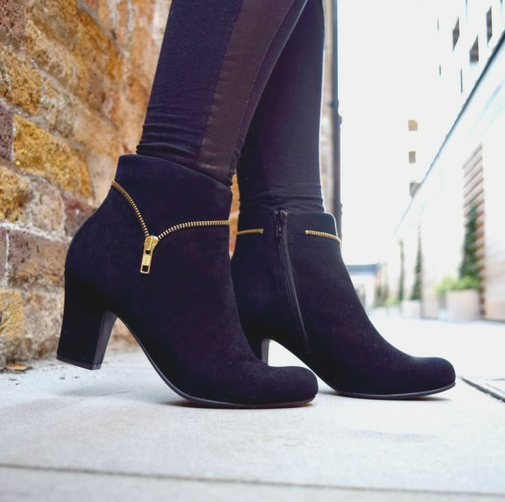 Gorgeous black booties that accommodate hammertoes...The #Hotter Vanity