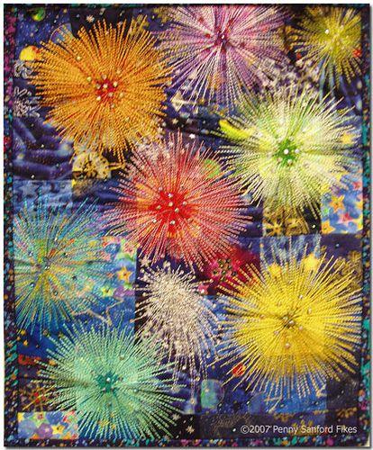Marilyn Rose Journal Quilt: Fireworks by Penny Sanford Porcelains, via Flickr